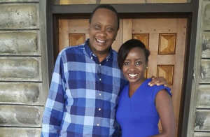 President Uhuru Is Seen Breaking Traffic Rules While Driving Citizen TV's Jacque Maribe at His Gatundu Ranch