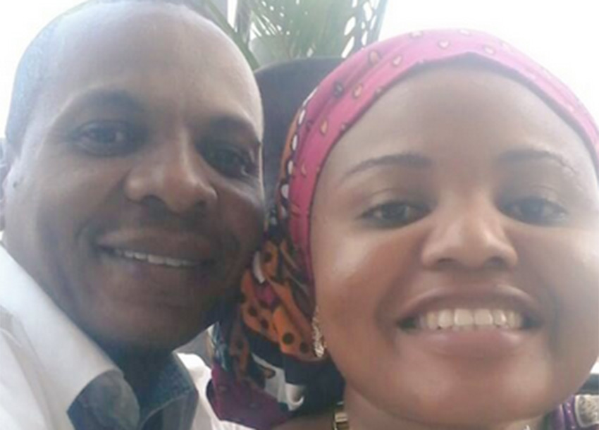 MWANAISHA CHIDZUGA runs back to DANSON MUNGATANA'S arms