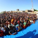 Video of raila falling from the stage to the ground in Malindi CORD Rally for cracking a joke about Jesus