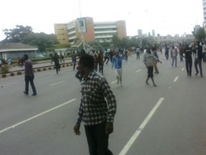 University of Nairobi students riot after Babu Owino won SONU Elections