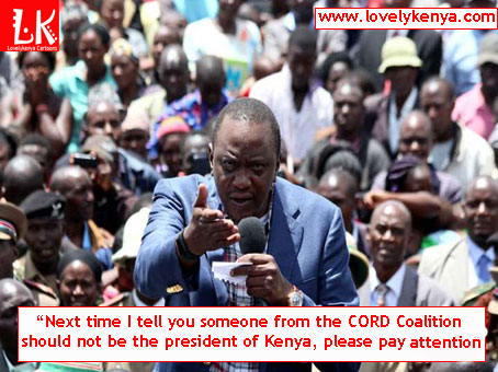 President Uhuru Kenyatta tells   Kenyans CORD Coalition can never win elections in Kenya