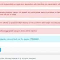 Company / Business name Search in Kenya - eCitizen Portal