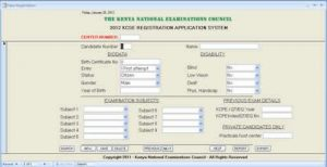 KNEC KCSE Registration