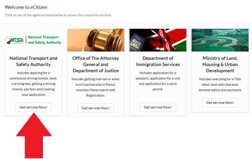 NTSA eCitizen - How to apply for Provisional driving license NTSA Kenya