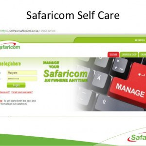 Safaricom Selfcare Login page