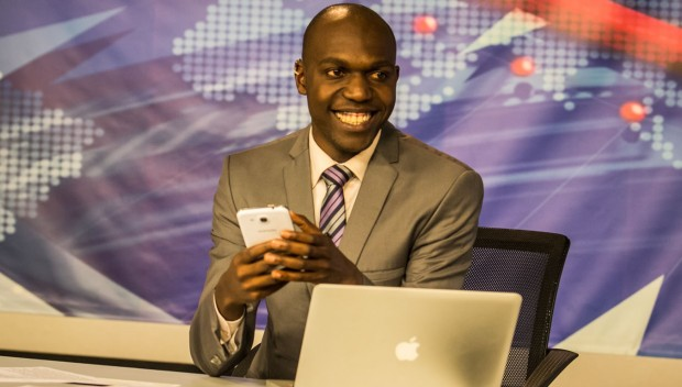 LEAKED VIDEO: LARRY MADOWO secretly weds a lady named JANE. Here's the VIDEO that leaked in the NTV Newsroom