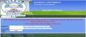 Maseno University Student Portal